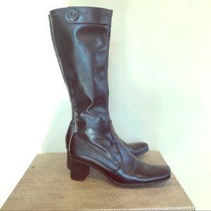 Franco Sarto Knee High Black Boot